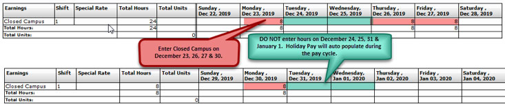 FY20 Holiday Time Reporting-Administrators-Salaried Full and Part-time