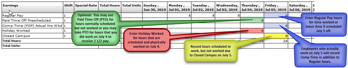 FY19 Holiday Time Reporting-Full-Time Police