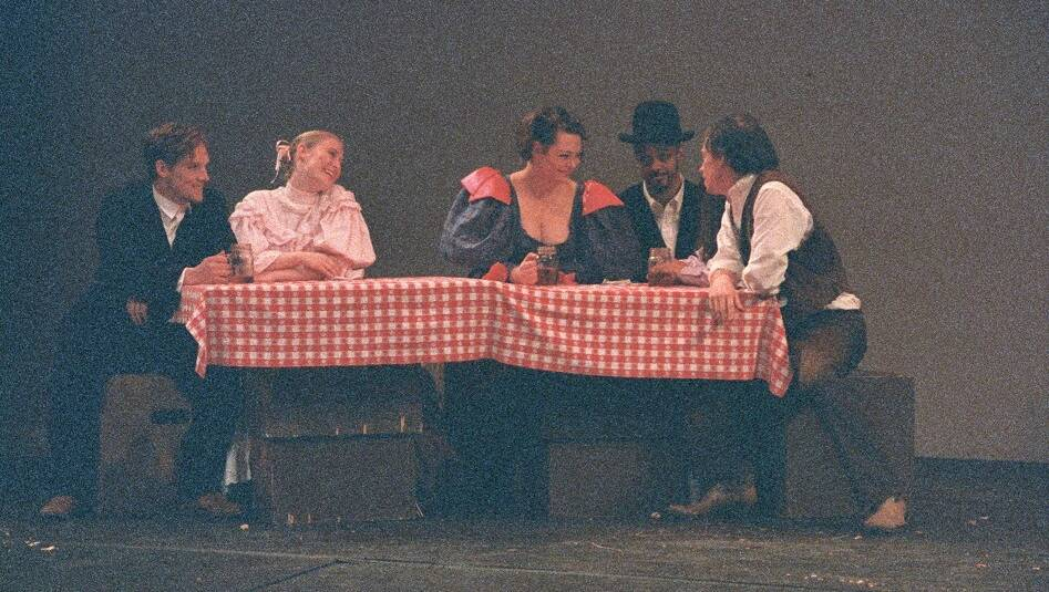 A scene from an theatre performance in the Dart Auditorium - ca. 1980s