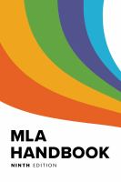 Cover of MLA Handbook. Click here for a list of books about MLA style at LCC Library