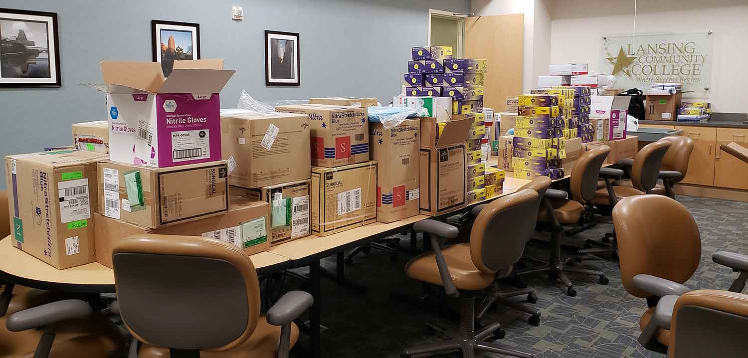 Lansing Community College donates masks; other supplies to help fight coronavirus