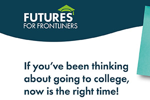 Lansing Community College will serve as a Frontliners Champion to support the Futures for Frontliners program