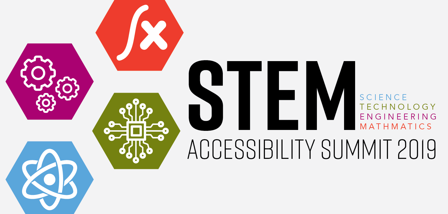 STEM summer accessibility summit graphic banner