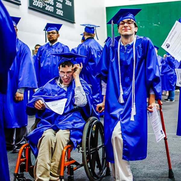 Students with disabilities at graduation