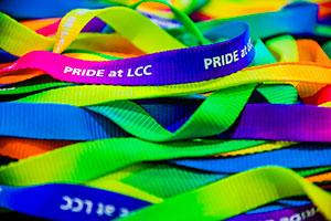 Pride at LCC lanyards